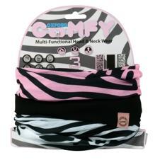 Oxford Comfy Halstunnel. Zebra 3 Pack