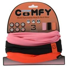 Oxford Comfy Halstunnel. Pink/black/red. 3 Pack