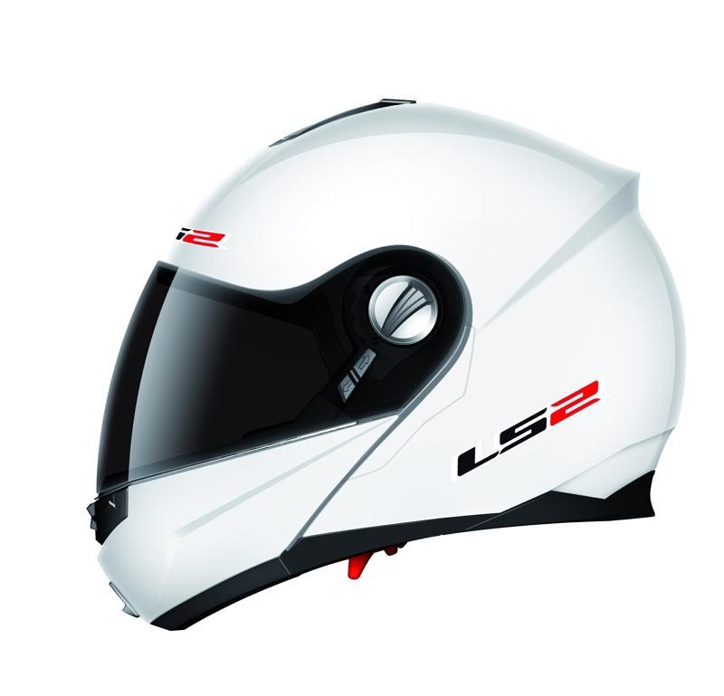 FF 386 LS2 Ride Gloss White