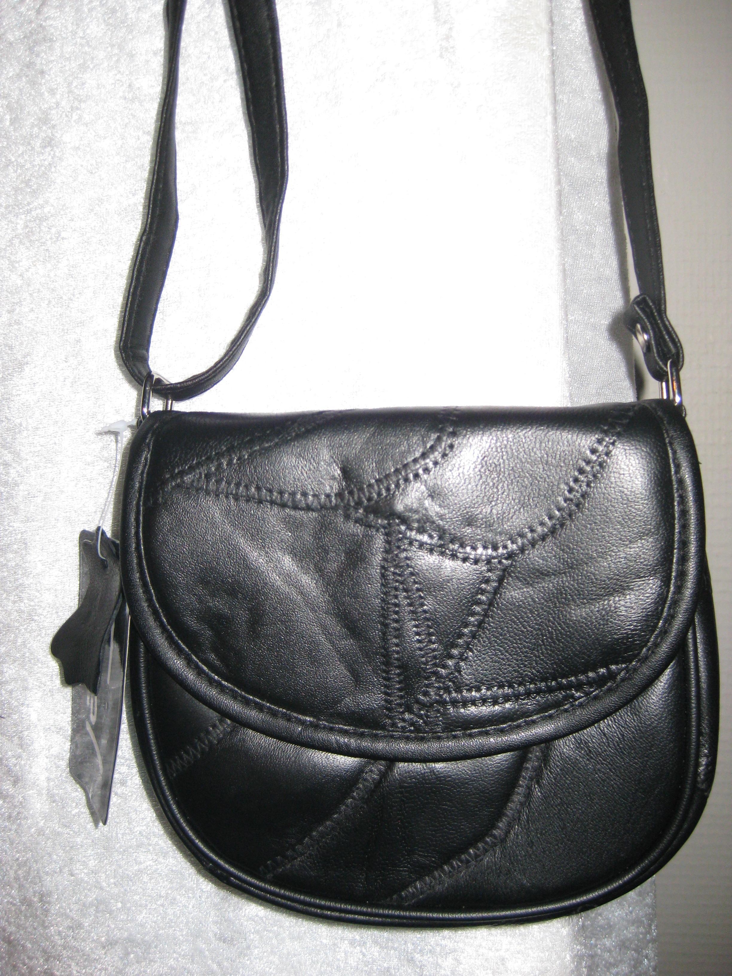 Lille skind taske. m skulder strop